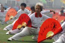 淄博市博山区运动会采风之太极扇